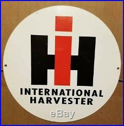 Vintage International Harvester Tractors 10 Porcelain Metal Gasoline Oil Sign