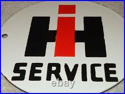 Vintage International Harvester Tractors 6 Porcelain Metal Gasoline & Oil Sign