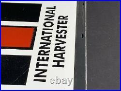 Vintage International Harvestor Porcelain Sign Tractor Heavy Machinerey Gas Oil