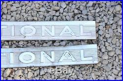 Vintage International Tractor Nose Side Emblem Pair Aluminum Badge Part Oem