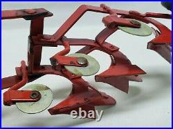 Vintage McCormick Tractor Plow 3 Bottom Fast / Quick Hitch Eska Ertl Farm Toy
