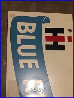 Vintage tin advertising Sign International Harvester tractor Blue Ribbon Special