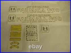 Vinyl Decal Set IHC Mc Cormick Farmall Cub Tractor